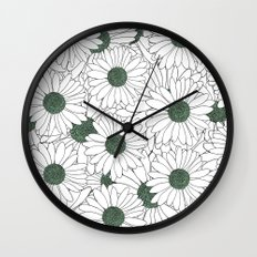 Daisy Mint Wall Clock