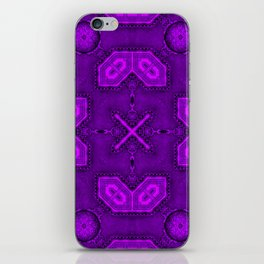 Victorian Art Deco Medieval Pattern bright violet SB26/1 iPhone Skin