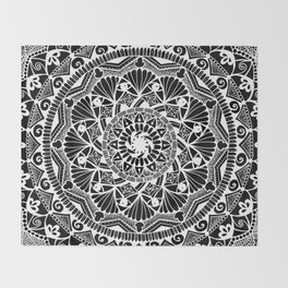 Inverted I See You Mandala Throw Blanket