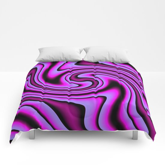 Cosmic Purple Twirls Comforters