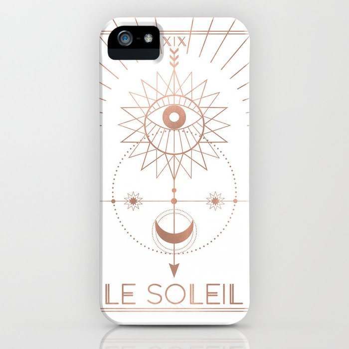 Le Soleil or The Sun Tarot White Edition iPhone Case