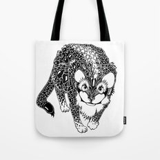 Black Cheetah Tote Bag