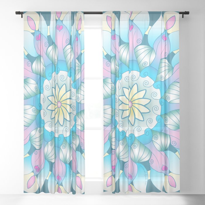 Angels Among Us Mandala Sheer Curtain