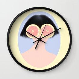 CITRUS & GIRL Wall Clock