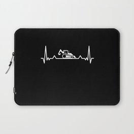 Backhoe Heartbeat excavator and Digger Gift Laptop Sleeve