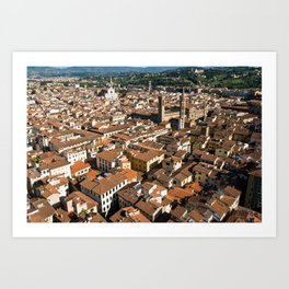 Aerial panoramic view of Florence Art Print
