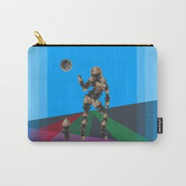 Sexy pump 1. On multicolored background. (Predominance of light blue) Carry-All Pouch