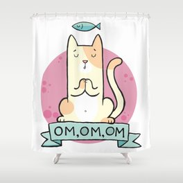 Cat OM Shower Curtain