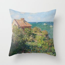 Fisherman's Cottage at Varengeville by Claude Monet Throw Pillow