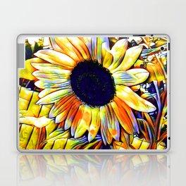 Blushing Sunflower Laptop & iPad Skin
