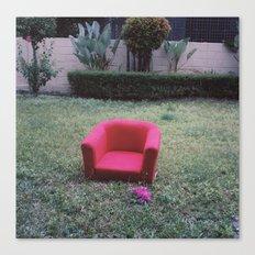 vintage red sofa Canvas Print