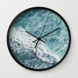 Saltwater Feelings Ocean Surf Wall Clock