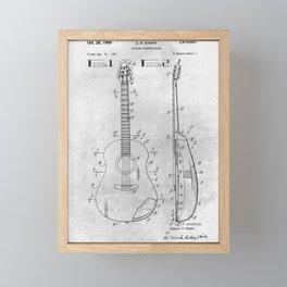 Guitar Construction Framed Mini Art Print