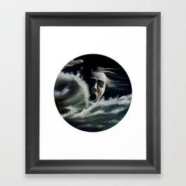 Man overboard Framed Art Print