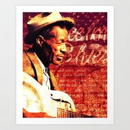 Feelin' Blues Art Print