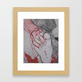 A Splash of Red Color Framed Art Print