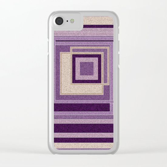 Abstract painting in purple and brown tones . Clear iPhone Case