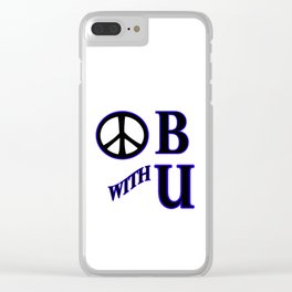 Peace be With You Clear iPhone Case