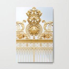 Versailles Golden Gates Metal Print