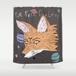 Fur-Free Galaxy Shower Curtain