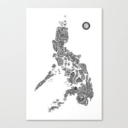 Paranormal Philippines (white) Canvas Print