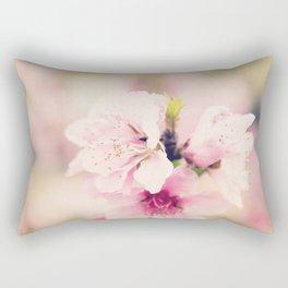 Pink Pear Blossoms 1 Rectangular Pillow