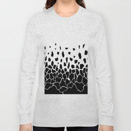 Black Fragments Long Sleeve T-shirt