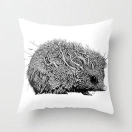 Leaf Hedgehog Throw Pillow