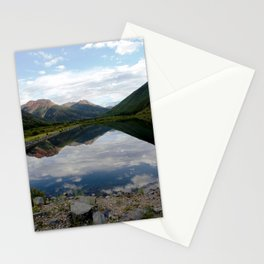 Reflection of the Red Mountains on Crystal Lake Stationery Cards