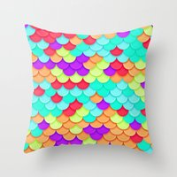 scales Throw Pillows featuring Scales by White Wolf Wizard