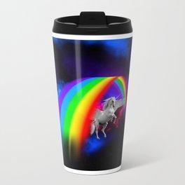 Unicorn & Rainbow Metal Travel Mug
