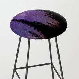 Milky Way Galaxy Over the Forest Bar Stool