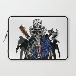 Zombie Uncle Sam  Laptop Sleeve