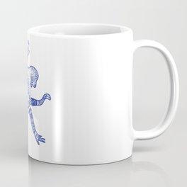 Blue Monkey Mandala Tribal Drawing Coffee Mug