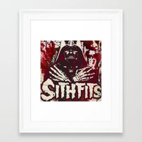 sith Framed Art Prints featuring Sithfits - Sith Bloody Sith by Sithfits