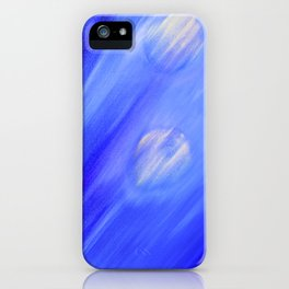 Once In A Very Blue Moon – Oil Painting iPhone Case
