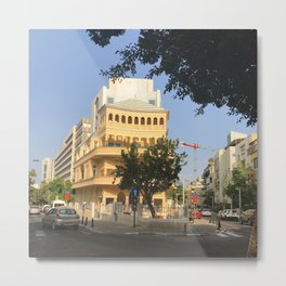 Tel Aviv Pagoda House - Israel Metal Print