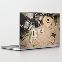 vintage map Laptop & iPad Skins featuring Map by Carmen Moreno Photography