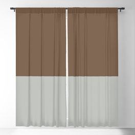 Benjamin Moore 2019 Color of Year Metropolitan AF-690 & Kona Chocolate Brown Bold Horizontal Stripes Blackout Curtain