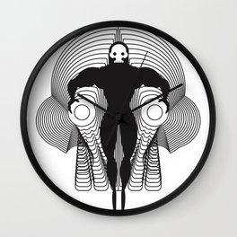 skull man - black Wall Clock