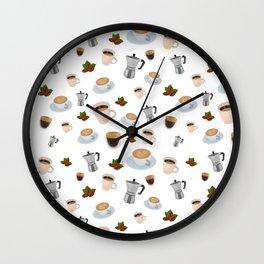 Coffee Print Wall Clock