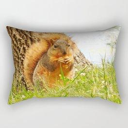 Squirrel Eating Chip Rectangular Pillow