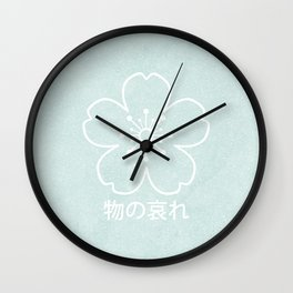 mono no aware – blue Wall Clock