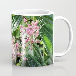 Pink and Green Medinilla Tropical Flower Coffee Mug