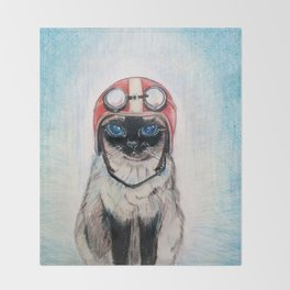 Aviator Cat Throw Blanket