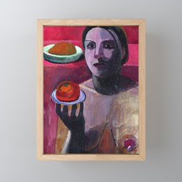 Paula Modersohn Becker Self Portrait Framed Mini Art Print