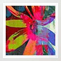Phychodelic Daisy Art Print