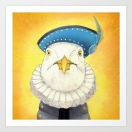 Sir Gull Art Print