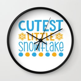 Cutest Little Snowflake shirt Wall Clock