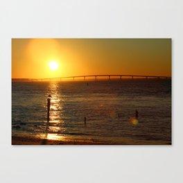Golden Sunset on Jersey Shore Canvas Print